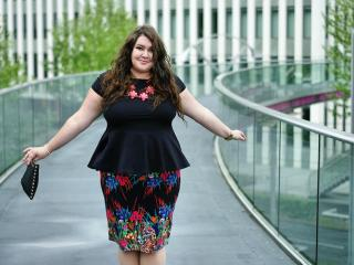 681: The peplum and the floral pencil skirt