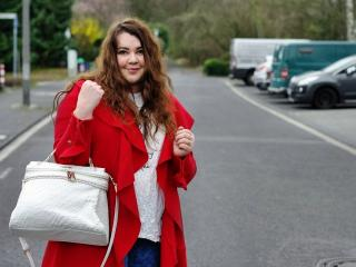The red, bright and warm cardigan