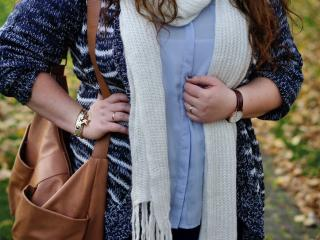 Striped blue cardigan
